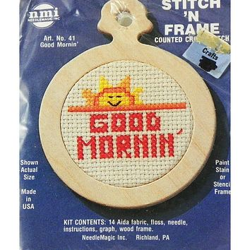 Good Mornin' - Stitch 'N Frame - Counted Cross Stitch Kit - NeedleMagic