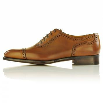 Wakeby Wolf Formal Tan Brogue Laces Genuine Leather Shoes