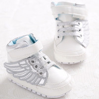 PU Leather Footwear Kids Boys High Sneaker Newborn Baby Fashion Lace-Up Prewalkers Shoe Infant Moccasins Soft Moccs Sports Shoes