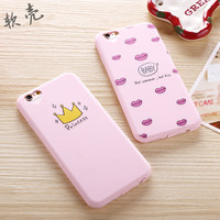 Phone Cases for iphone 5 5s SE 6 6s Princess Crown Girl Lovely Cartoon Design Printing Soft Silicone Case For iphone 5s case
