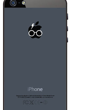 3 harry potter glasses and scar iphone vinyl decal stickers fits perfectly on your iphone's apple! free shipping