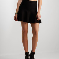 Flared Hem Bodycon Skirt