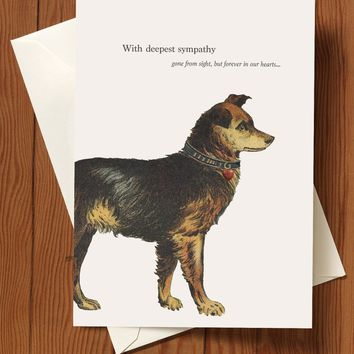 With Deepest Sympathy - Dog Greeting Card