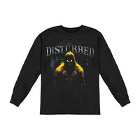Disturbed Men's  Inside  Long Sleeve Black Rockabilia