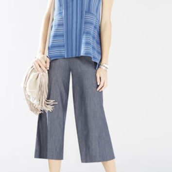 Black/Blue BCBG Kristanna Sleeveless Striped Top