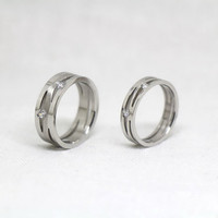 2pcs-Free Engraving,silver Rings,Lovers rings, promise ring,couple Rings,ring for couples