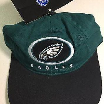 PHILADELPHIA EAGLES INFANT SIZE NFL HAT GREEN WITH BLACK BRIM SHIPPING