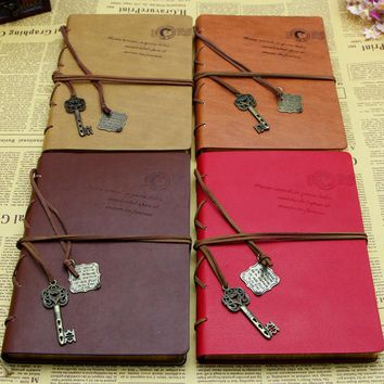 Vintage Notebook Newest Magic Key Retro Leather Cover Journal Diary
