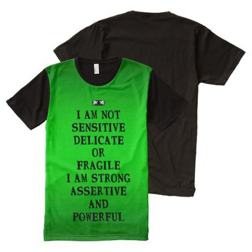 Assertive Quote by Kat Worth Men's All-Over-Print T-Shirt