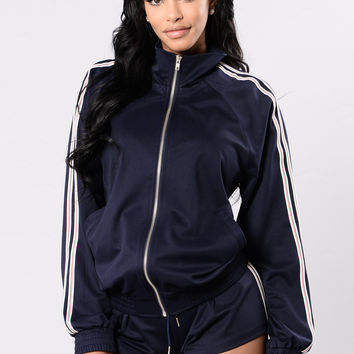 Roller Girl Jacket - Navy