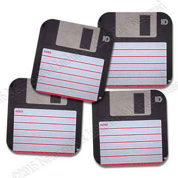 Floppy Disc Coaster Neoprene 4 Piece Set