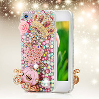 3D Handmade Crystal Rhinestone Phone Case for iPhone 4 4S 5 5S 5C 6 6S Plus Samsung Galaxy S6 Edge Note 5