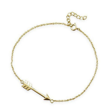 14 Karat Gold Arrow Bracelet