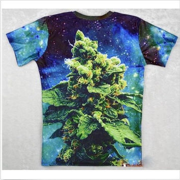 Weed Marijuana Cannabis Bud Shirt Hip Hop Urban Swag Sublimation All Over Print Shirt Cat Tee Shirt Graphic Tee Gift Idea