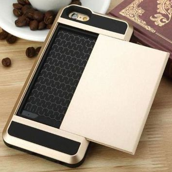 DCCKL7H Edgy Cover Credit Card And Cash Stowaway Phone Case Cover For  Iphone 6 6s 6plus 6sPlus 7 7plus 8 8plus