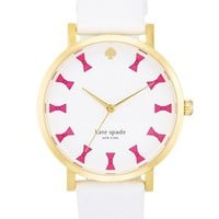 kate spade new york 'metro grand' bow dial watch, 38mm | Nordstrom