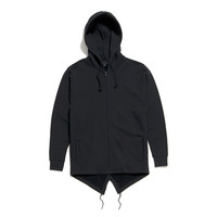Black Scale - De Vault Fishtail Hoody - Black