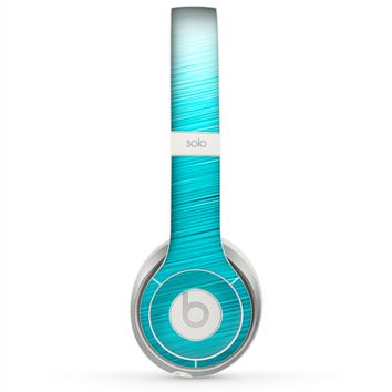 The Light Blue Slanted Streaks Skin for the Beats by Dre Solo 2 Headphones