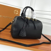 Louis Vuitton LV Women Leather Shoulder Bag Shopping Satchel Tote Bag Handbag
