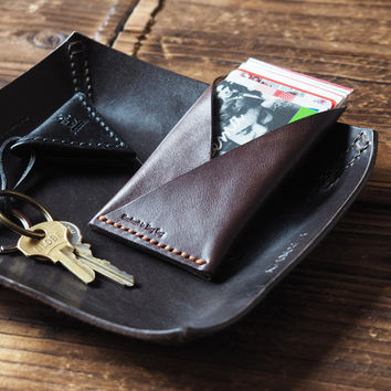 Leather Card Holder #Dark Brown