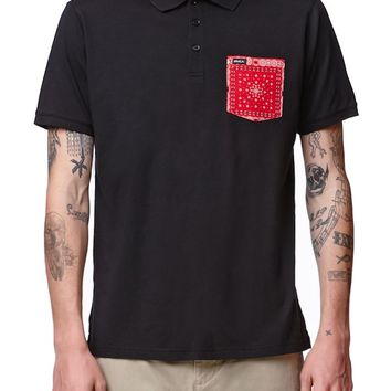RVCA YGVA Polo Shirt - Mens Polo Shirt - Black