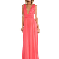 Helena Maxi Dress in Coral