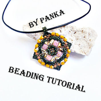 Beading pendant tutorial. Beading pattern. How make to jewelry tutorial. Pdf file, pfd instruction. Beading instruction.