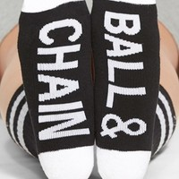 Women's Arthur George by R. Kardashian 'Ball & Chain' Crew Socks
