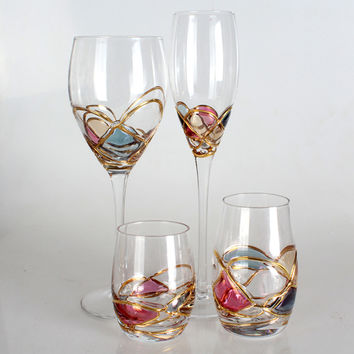 Luxury Goblet Crystal Champagne Flute Glass