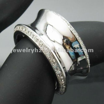 custom design!! solid 14k white gold natural diamond engagement wedding band , special