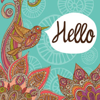 Hello Art Print by Valentina Harper