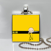 Family Guy Kill Lois Square Tile Pendant Necklace or Keychain