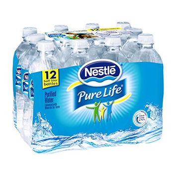 Nestle© Pure Life Purified Water, 16.9-ounce plastic bottles, 12 Count