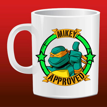 TMNT Mike Approved for Mug Design