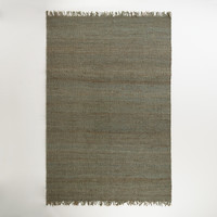Blue-Gray Venora  Flat-Woven Hemp Rug - World Market