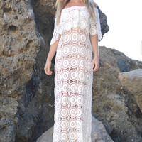 Gabriella Scallop Crochet Wedding Dress