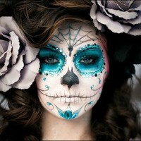 sugar skull makeup - Google Search