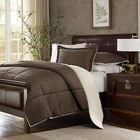 The Seasons® Down Alternative Comforter Set in Chocolate