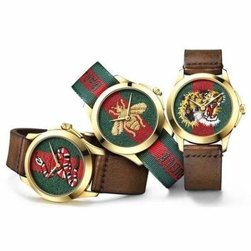 GUCCI Ladies Fashion Trending Bee Embroidery Watch Business Watches Wrist Watch