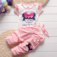 2016 Infant clothes toddler children summer baby girls clothing sets cartoon 2pcs Beautiful Girl clothes sets girls summer set