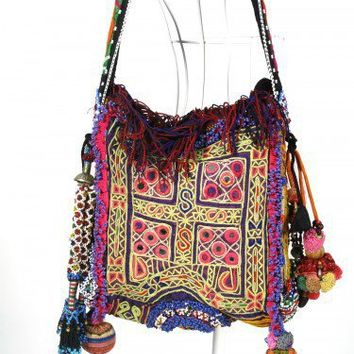 Bohemian Hippie bag vintage textiles One of a Kind N0078 | bohemiantouch - Bags & Purses on ArtFire