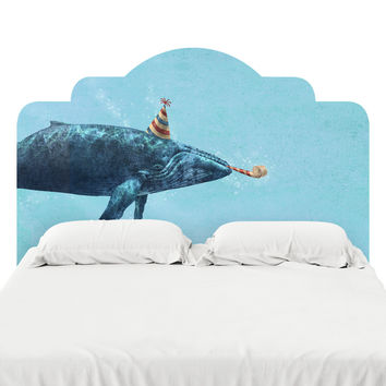 Party Whale Headboard Decal