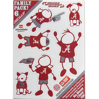 Alabama Crimson Tide Family Decal Set Small