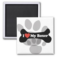 I Love My Boxer - Dog Bone