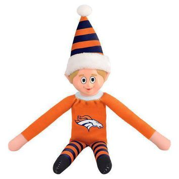 Denver Broncos Holiday Christmas Team Elf with Santa Hat n Shirt NFL