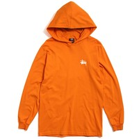Basic Stussy Longsleeve Hooded T-Shirt Apricot