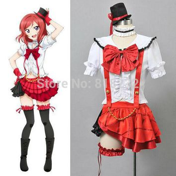 Love Live School Idol Project OP1 Nishikino Maki Uniform Dress Shirt Tops Skirt Outift Anime Cosplay Costumes