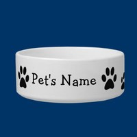 Paw Prints Custom Dish Cat Water Bowls from Zazzle.com