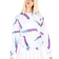 HOLOGRAM KNIFE SWEATER