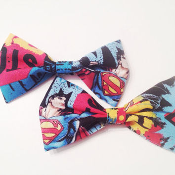Superman Hair Bows (set of two)